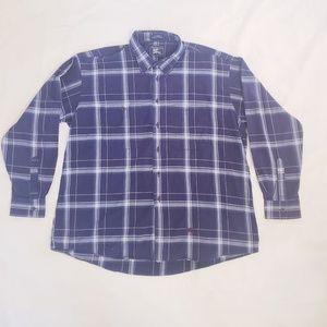 Burberry's Prosum Blue Plaid Button-Up Shirt, XL